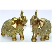 Фигурка из полистоуна золотистая «Слон»
