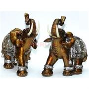 Фигурка из полистоуна коричневая «Слон» 16 см