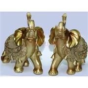 Фигурка из полистоуна золотистая «Слон» 16 см