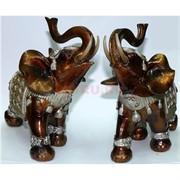 Фигурка из полистоуна светло-коричневая «Слон» 16 см