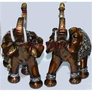 Фигурка коричневая из полистоуна «Слон» 24 см