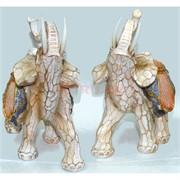 Фигурка белая из полистоуна «Слон» 22 см