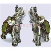 Фигурка серебристая из полистоуна «Слон» 22 см