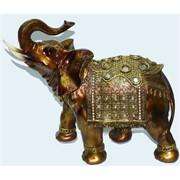 Фигурка коричневая из полистоуна «Слон» 30 см