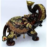 Фигурка коричневая из полистоуна «Слон» 28 см