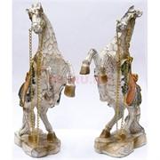 Фигурка из полистоуна белая «Лошадь на дыбах» 24 см