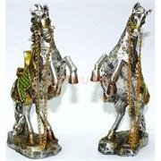Фигурка из полистоуна коричневая «Лошадь на дыбах» 24 см