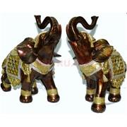 Фигурка из полистоуна коричневая «Слон»  25 см