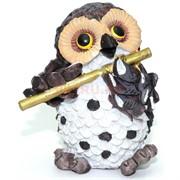 Фигурка из полистоуна «Сова с флейтой» 9 см