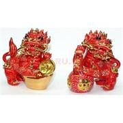 Фигурка фарфоровя красная «Дракон» набор из 2 шт