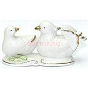 Фигурка фарфоровая «Птички» белые 12 см