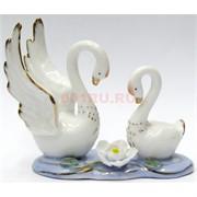 Фигурка фарфоровая «Лебеди» белые 10 см