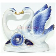 Фигурка фарфоровая «Лебеди» голубые 10см