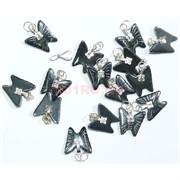 Подвеска для брелка «Бабочка» из гематита