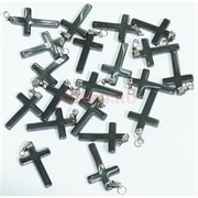 Подвеска для брелка «Крест» 3 см из гематита