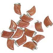 Подвеска для брелка «Клык» из коричневого авантюрина