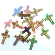 Подвеска для брелка «Иисус на кресте» из кошаьчего глаза