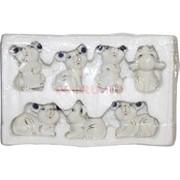 Символ 2020 года (NS-511) «Мыши крысы» набор 7 шт из фарфора