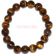 Браслет из тигрового глаза 10 мм (натуральный камень)
