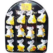 Магнит из полистоуна (MR-20) с сыром символ 2020 года «Крыса» 576 шт/кор