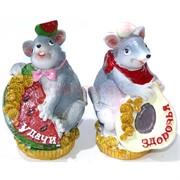 Фигурка из полистоуна (KR-05) «Крыса» с фруктами символ 2020 года 144 шт/кор