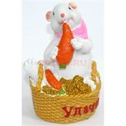 Фигурка из полистоуна (KL-1553) крыса с морковкой символ 2020 года
