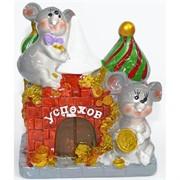 Фигурка из полистоуна (KL-1546) крысы с монетами символ 2020 года