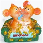 Фигурка из полистоуна (KL-1541) крысы на диване символ 2020 года