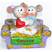 Фигурка из полистоуна (KL-1540) крыса на диване символ 2020 года