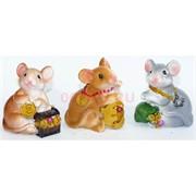 Фигурка из полистоуна (KL-1570) крыса с денежными символами символ 2020 года