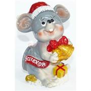 Фигурка из полистоуна (KL-1548) крыса с колокольчиком символ 2020 года