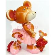 Фигурка из полистоуна (KL-1565) крыса в платье символ 2020 года