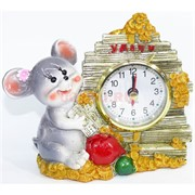 Фигурка из полистоуна (KL-1559) крыса с часами символ 2020 года