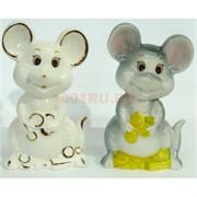 Фарфоровая статуэтка (KL-1521) крысы с деньгами символ 2020 года