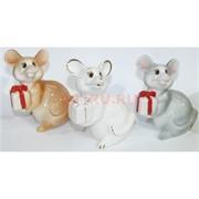 Фарфоровая статуэтка (KL-1522) крыса с подарком символ 2020 года