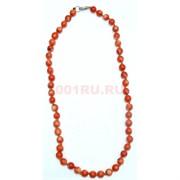 Бусы оранжевые из коралла 8 мм