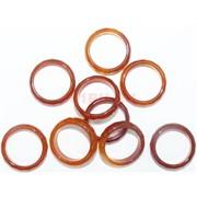 Кольцо из сердолика 20 мм граненое