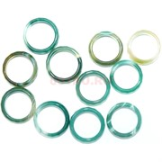 Кольцо из светло-зеленого агата 20 мм граненое