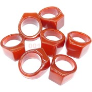 Кольцо из сердолика 30 мм «печатка»