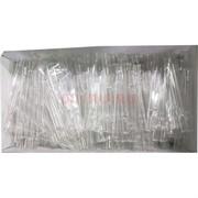 Трубка стеклянная (1301) прозрачная 8,6 см сплющенная