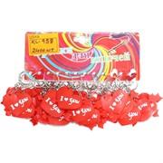 Брелок Сердце (KL-958) Love резиновый цена за 120 шт (2400 шт/кор)