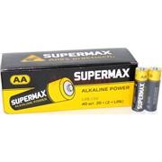 Батарейки 40 шт алкалиновые Supermax АА пальчиковые