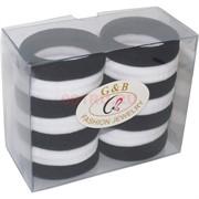 Резинка для волос (GB-240) черная и белая 140 шт/блок