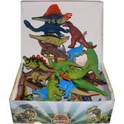 Игрушки динозавры пищащие 24 шт/уп резиновые