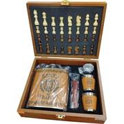 Набор большой «Важен и отважен» с шахматами, нож, фляга 18 унций