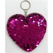 Брелок с пайетками «Сердце» 12 см