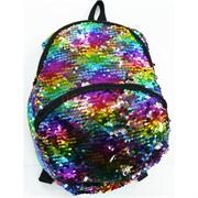 Рюкзак детский с пайетками цветной