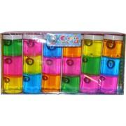 Слайм трехцветный 6 шт/уп средняя банка 320 гр