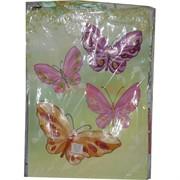 Пакет подарочный 32х45 см с цветами, бабочками (OM-358A) 20 шт/уп