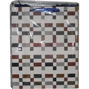 Пакет подарочный 18х23 см клетки и линии 20 шт/уп